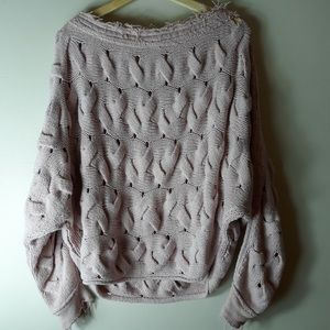 Free people chunky knit dolman sleeve sweater